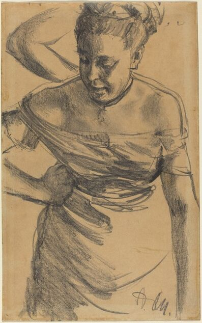 Adolph Menzel, 'Study of a Woman', ca. 1875/1890