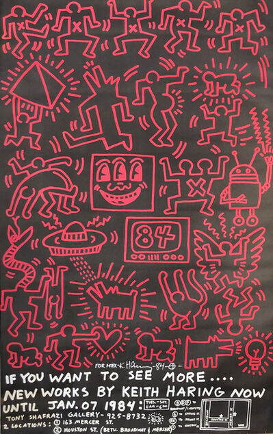 Keith Haring, 'New Works by Keith Haring, Shafrazi Exhibition Announcement', 1984