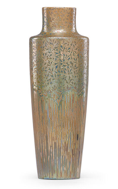 Clément Massier, 'Vase with stylized vegetation, Golfe-Juan, France', ca. 1900