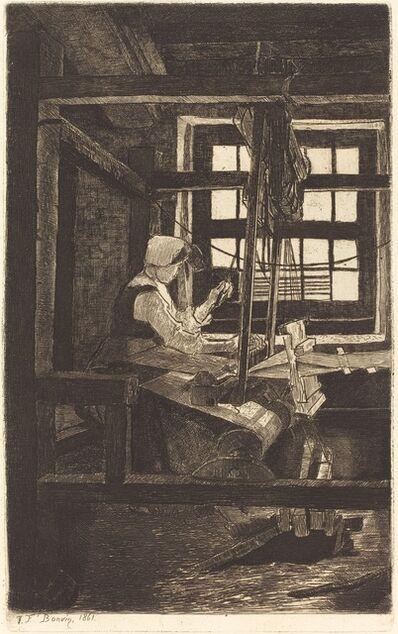 François Bonvin, 'The Weaver (La Tisserande)', 1861