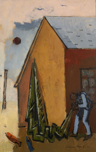 Herman Maril, 'Net and Barn', 1951