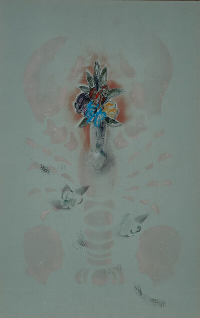 Gerald Ferguson, 'Vase Of Flowers With Lobster And Silhouette', 1990