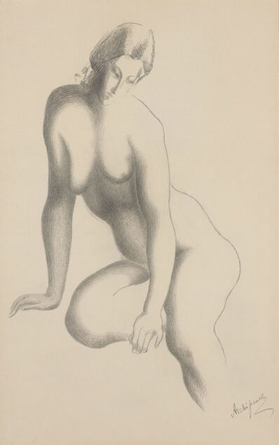 Alexander Archipenko, 'Nude, Eyes Downcast', 1930