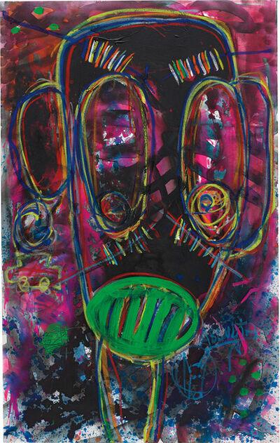 Aboudia, 'Vert a levres', 2015