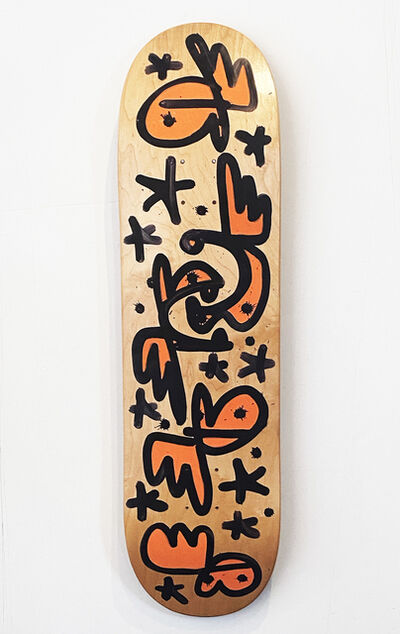 Pure Evil, ''COVID-19 Panic Buy' Hand-Painted Skateboard Deck', 2020