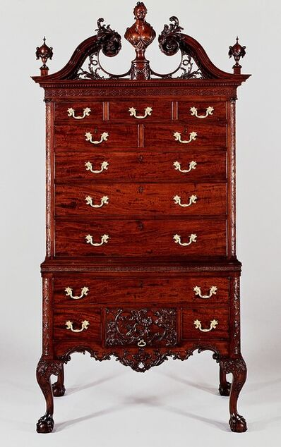 Unknown American, 'High chest of drawers', 1762–1765