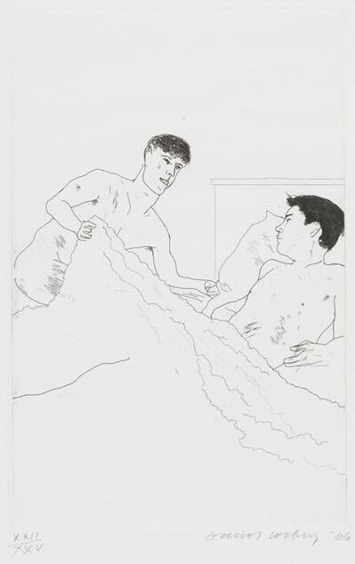 David Hockney, 'According to Pescriptions of Ancient Magicians, 5', 1966