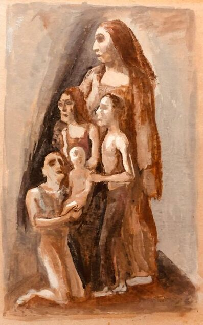 Mark Tobey, 'Rare American Modernist Family Group Gouache Painting', Mid-20th Century
