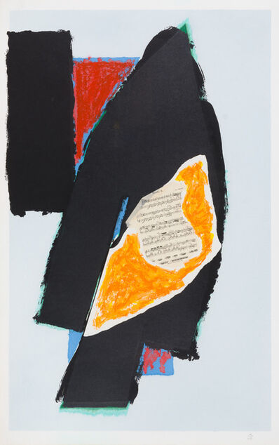 Robert Motherwell, 'Black for Mozart', 1991