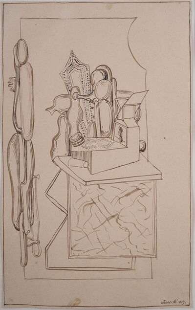 Henryk Streng/ Marek Włodarski, 'Composition with desk and lectern ', 1929