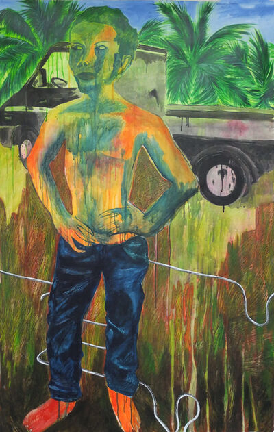 Leslie Amine, 'Young man', 2015