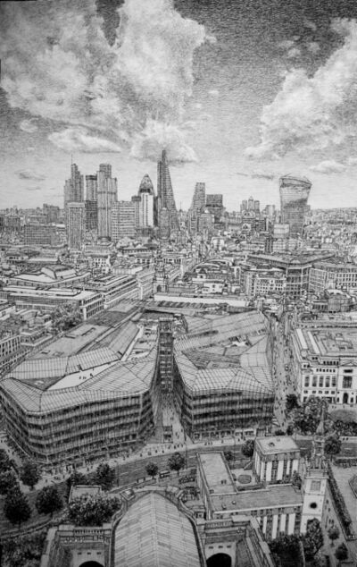 Roy Wright, 'London, East from St Paul's', 2017