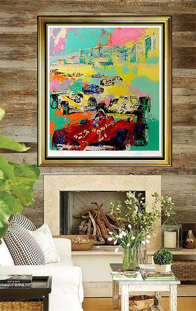 LeRoy Neiman, 'LeRoy NEIMAN Serigraph Original Large Grand Prix F1 Racing Signed Color Artwork', 20th Century
