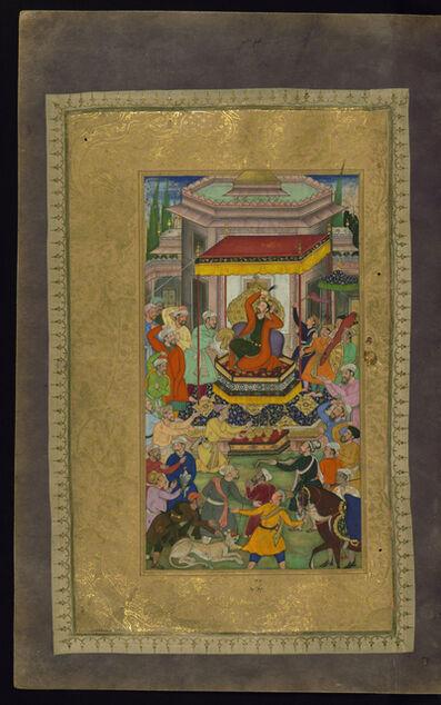 Nizami Ganjavi, 'Alexander the Great Enthroned at Persepolis', 1595
