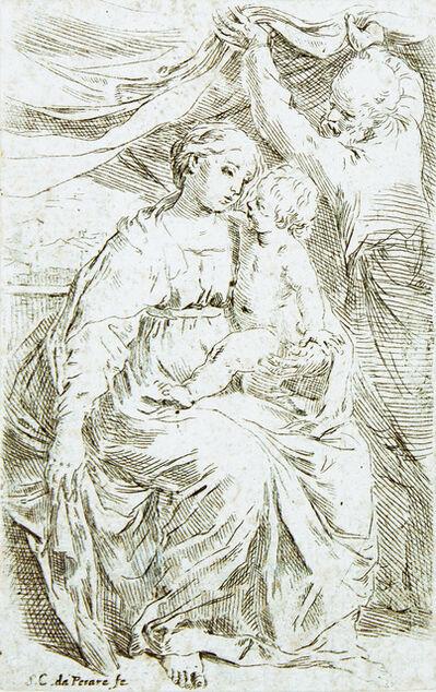 Simone Cantarini, 'The Holy Family with the Curtain', circa 1635