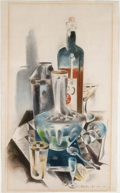 Preston Dickinson, 'Decanter and Bottles', 1925
