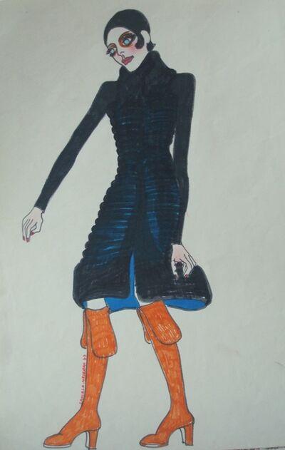 Delia Cancela, 'Chica pelo negro y tapado negro', 1967