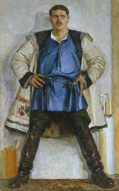 Fedir Krychevskyi, 'Self Portrait in White Sheepskin Coat', 1926-1932