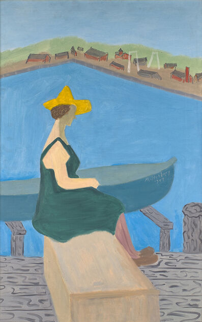 Milton Avery, 'Girl by Lake', 1944