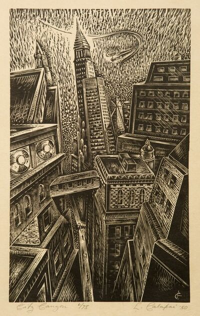 Letterio Calapai, 'City Canyon', 1950