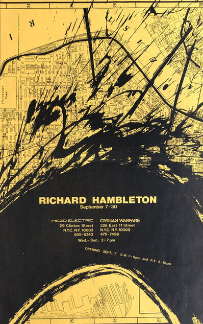 Richard Hambleton, 'Richard Hambleton 1983 Exhibition Poster ', 1983