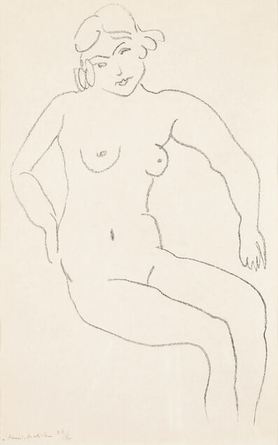 Henri Matisse, 'Nude Seated, Light Hair', 1922