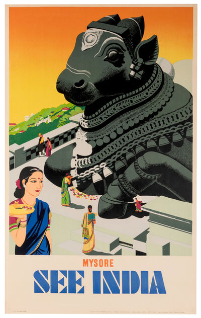 Vintage Travel Poster, 'See India, Mysore', 1950s