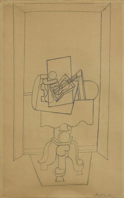 Pablo Picasso, 'Nature morte sur un guéridon devant une fenêtre ouverte', 1919