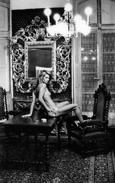Helmut Newton, 'Charlotte Rampling at the Hotel Nord Pinus, Arles, France (Signed)', 1973