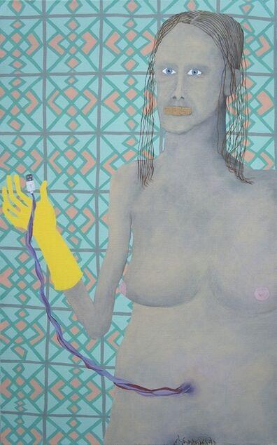 Thordis Adalsteinsdottir, 'Woman, Bandaid, USB', 2019