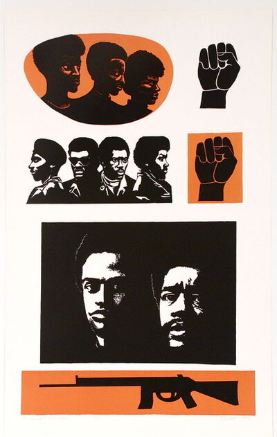 Elizabeth Catlett, 'Homage to the Panthers', 1993
