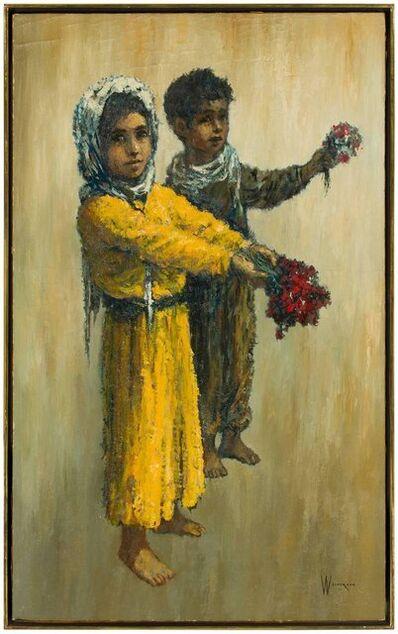 William Weintraub, 'Barefoot Children and Flowers, Modern Mid-Century Israeli Painting', Mid-20th Century