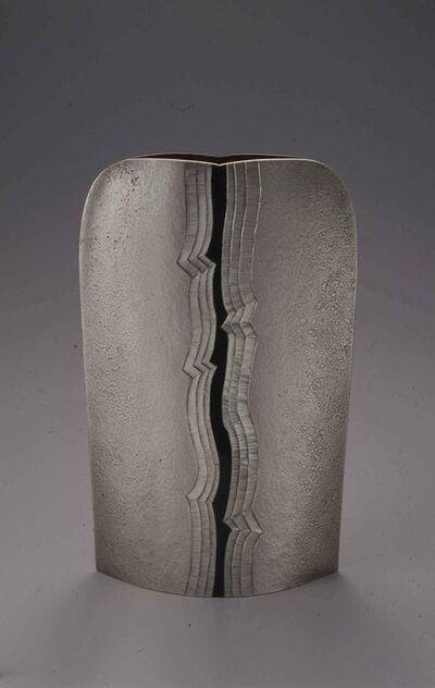 """Otsuki Masako, 'Silver Vase """"Sen"""" (Sharp) I', 2009"""