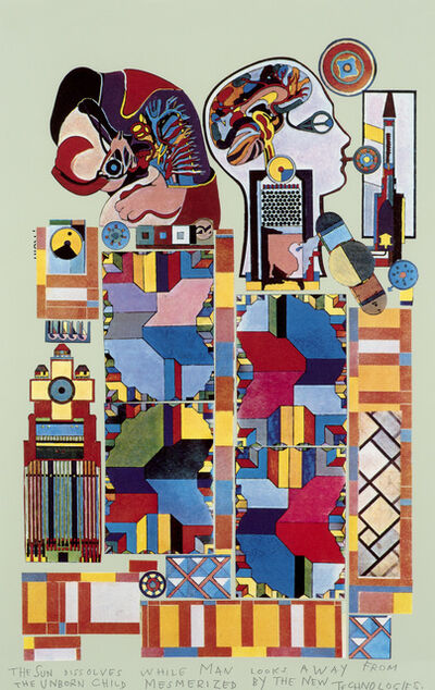 Eduardo Paolozzi, 'The Sun Dissolves While Man Looks Away From The Unborn Child Mesmerised By The New Technologies', 1988