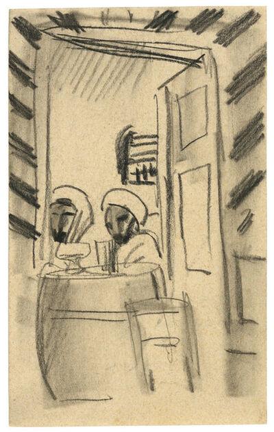 August Macke, 'Café-Szene in Tunesien', 1914