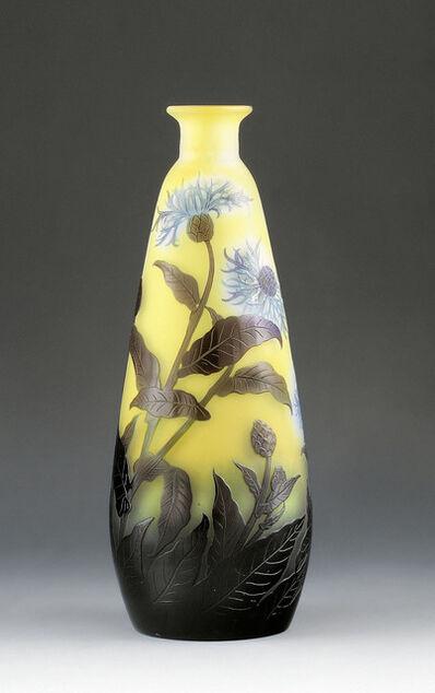 Emile Gallé, 'Vase with corn flowers', France-c. 1910