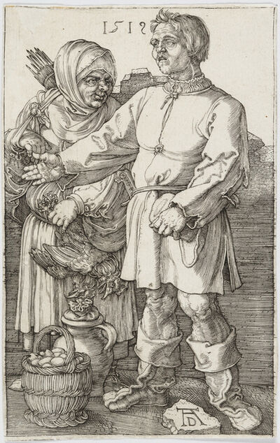 Albrecht Dürer, 'The Peasant and His Wife at Market', 1519