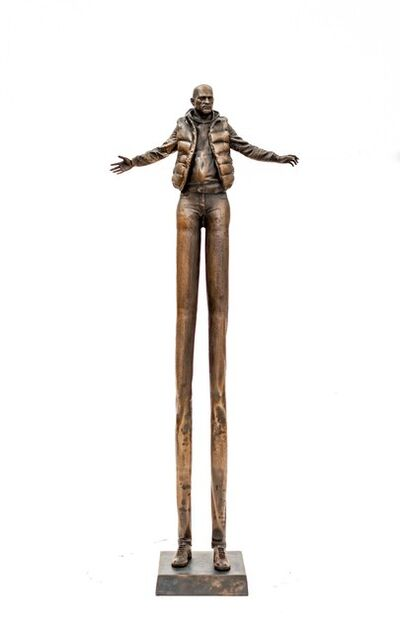 P. Roch Smith, 'Enlarging Perspective - Surreal stretched male figure in bronze', 2020