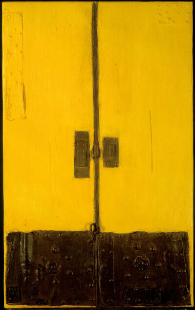 Josep Navarro Vives, 'Puerta amarilla y negra (Black and yellow door)', 1963