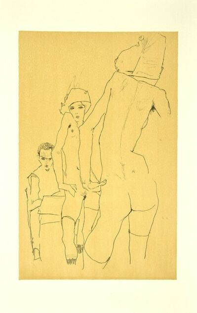 Egon Schiele, 'Schiele Drawing a Nude Model in front of a Mirror ', 2007