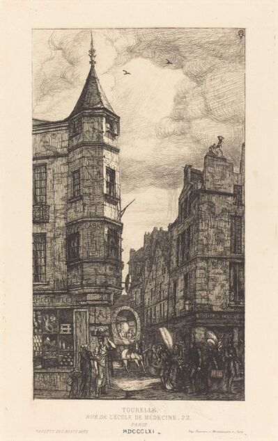 Charles Meryon, 'Tourelle, Rue de l'École de Médecine, 22, Paris', 1861
