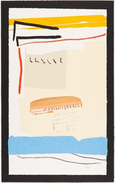 Robert Motherwell, 'America - La France Variations III', 1984