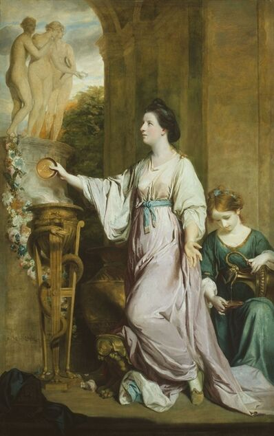Joshua Reynolds, 'Lady Sarah Bunbury Sacrificing to the Graces', 1765