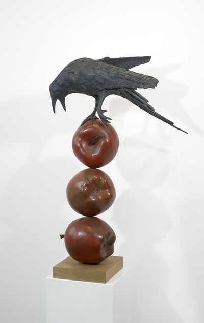 Peter Woytuk, 'Raven on three Apples', 1998