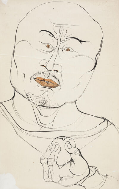 Li Jin 李津, 'Man with a Fruit 线描男子', 1993