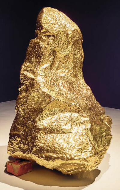 Bosco Sodi, 'gold volcanic rock ', 2015