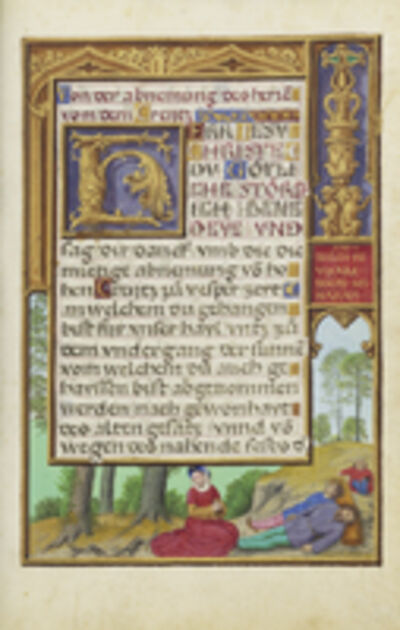 Simon Bening, 'Border with Naomi Grieving the Loss of Her Family', 1525-1530