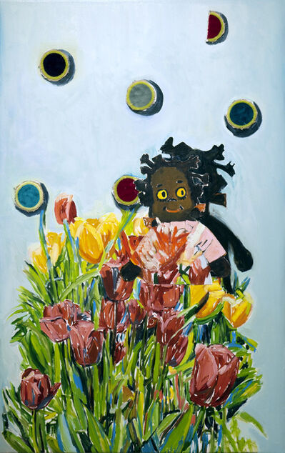 Beverly McIver, 'Gracie with Tulips', 2019