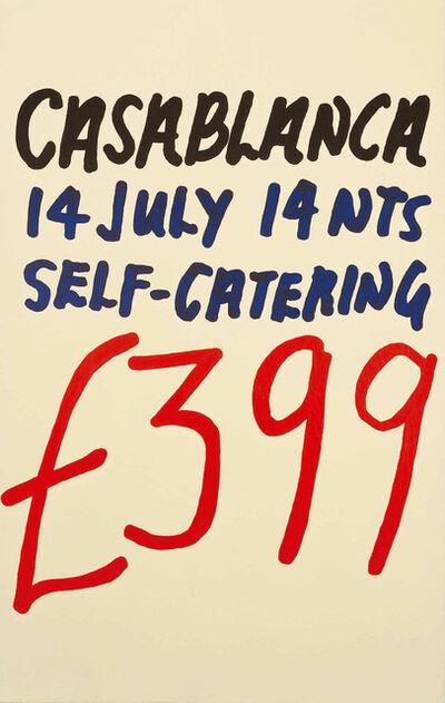 Jonathan Monk, 'Casablanca No 1672', 2000