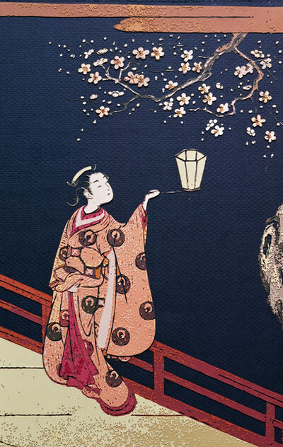 Vik Muniz, 'Pictures of Paper (Color): Plum Blossom Viewing at Night, after Harunobu', 2010